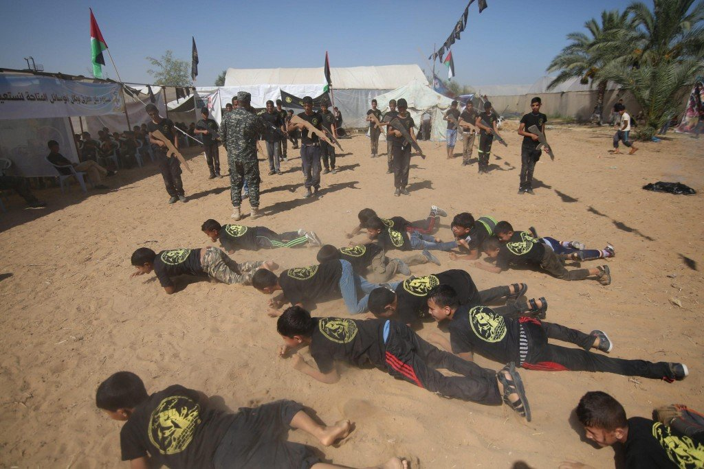 Military summer camp in Gaza Strip